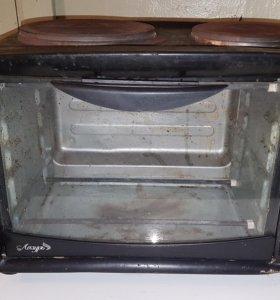 Печь двухконфорочная с духовкой