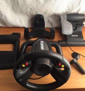Продам игровой руль SAITEK R220