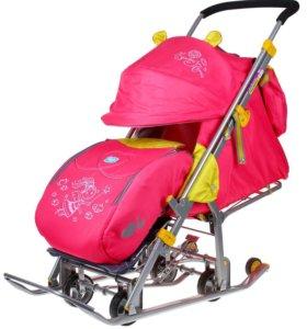 Санки-коляска Ника детям 7 Фея розовый