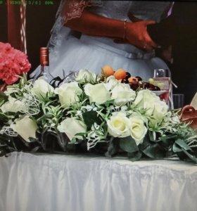 Цветочная композиция свадьба