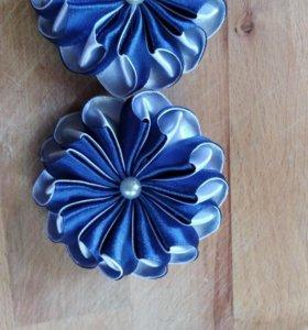 Канзаши, резинки для волос ручной работы