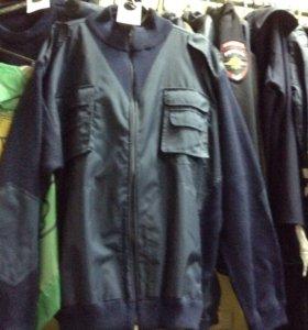 Куртка форменная вязаная п/ ш с накладками