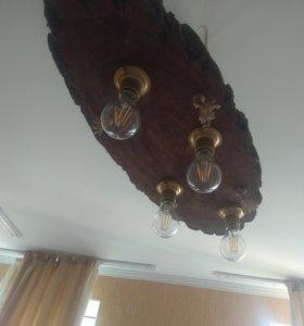 Светильник из деревянного массива