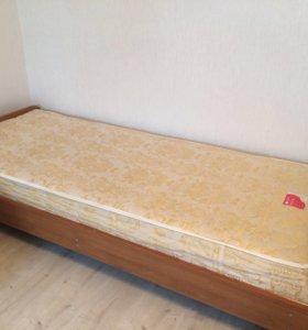 Продаётся новая кровать , односпалка с матрацом !