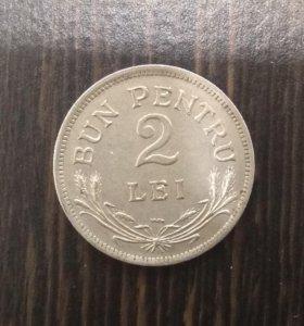 2 лей 1924 года Королевство Румыния