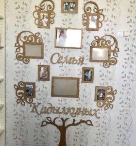 Композиция из рамок Изделия из дерева