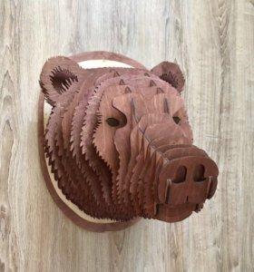 Голова медведя Изделия из дерева