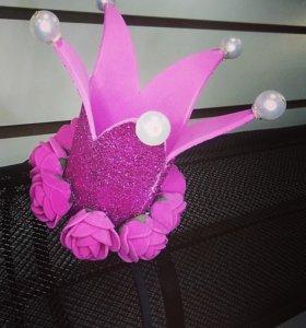Корона из фоамирана с розами на ободке