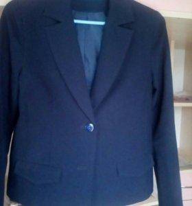 Темно синий пиджак для девочки