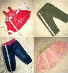Одежда на девочку пакетом (до 1года)