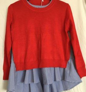 Кофта блузка 2 в 1