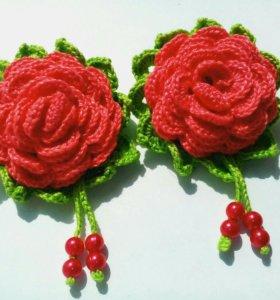 Резиночки Розы, вязаные.
