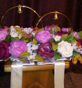 Цветы 💐 - клумба на свадебный авто