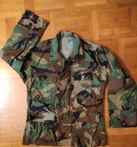 Китель армии США BDU woodland Новый