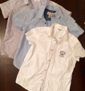 Рубашки на мальчика 120-122, за все 500₽