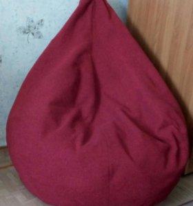 Кресло-мешок бордовое