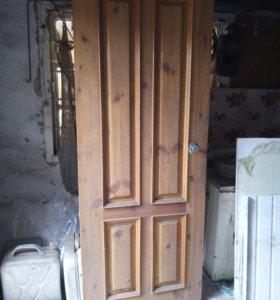 Дверное полотно листвиница.