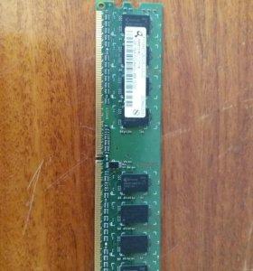 Оперативная память на 1 гб, разъём ddr2.