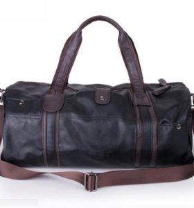 Стильная мужская сумка из кожи с ремнем на плечо