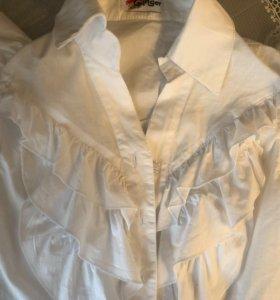 Белая рубашка новая размер 146-152