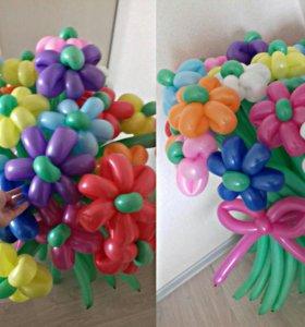 Цветы из шаров.Цена за цветок 30р