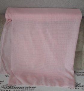 тюль розовая однотонная, высота 295см,