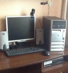 Компьютер в сборе и рабочем состоянии