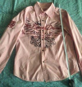Рубашка. Розовая. Длинный рукав