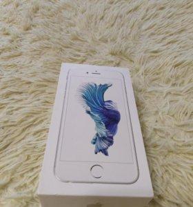 Коробка от iPhone 6 s серебристая