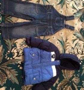 Брендовая одежда р 80-86 на осень . Пакетом.
