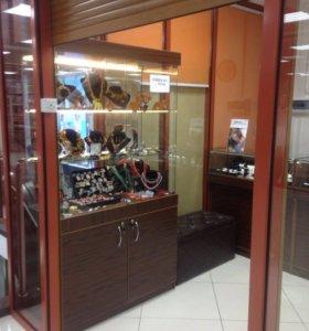 Прилавки для ювелирного отдела и бижутерии