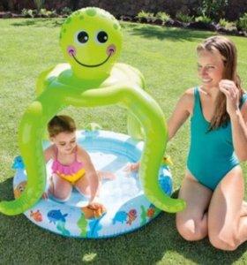 """Детский надувной бассейн """"Осьминог""""."""