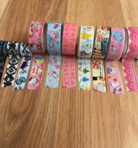 скотчи декоративные цветные Hello Kitty EAH