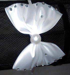 Ободок с белым бантом