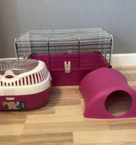 Клетка для морской свинки/кролика,переноска,домик