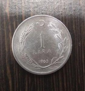 1 лира 1963 года - Турция
