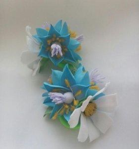 Резинки с цветами