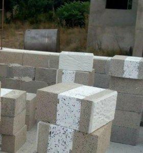 Фасадный блок керамзитобетонные