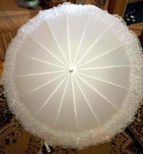 Отличный новый зонтик для свадебной фотосессии.