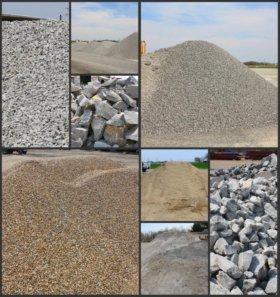Песок, гравий, шебень, отсев, земля, перегной...