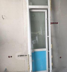 Дверь+окно почти как новое