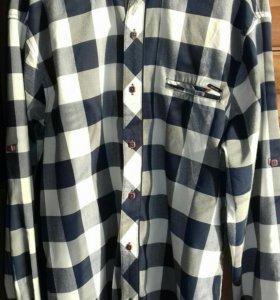 2 рубашки рост 164-170в отличном состоянии, хлопок