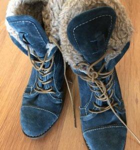 Идеальные замшевые ботинки 36 размер