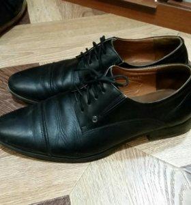 Туфли кожанные 40-41р-р
