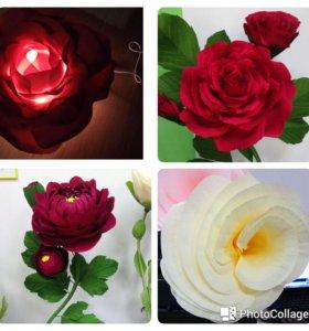 Ростовые цветы, светильники из изолона