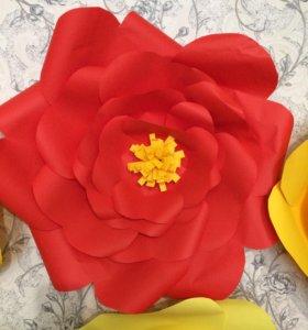 Цветы объёмные 15 шт