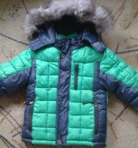 Куртка зимняя на мальчика 2-4 года