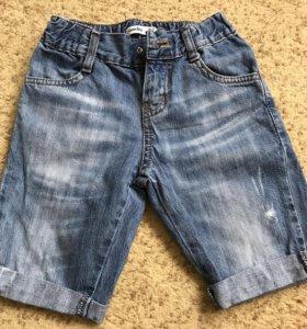 Джинсовые шорты на мальчика 6-7 лет
