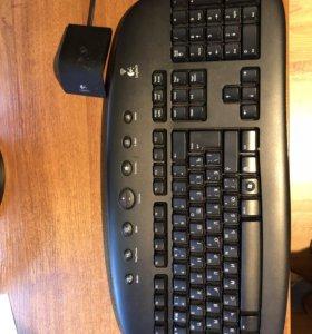 Клавиатура Logitech с мышью