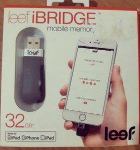 Флешка Leef iBridge на 32GB для iPhone\iPad\iPod